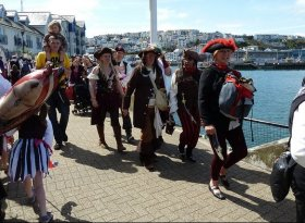 Find self-catering accommodation for Brixham Pirate Festival