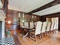 Oak panelled dining room