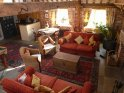 Comfy sofas by the inglenook