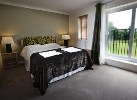 Comfortable double bedroom in self catered accommodation