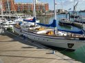 Luxury Yacht moored in Gunwharf Quays, available for short breaks