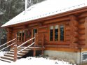 Find self-catering accommodation for Handcrafted Log House. Wood-burner plus outdoor hot tub, fully immersed in Canada's nature.