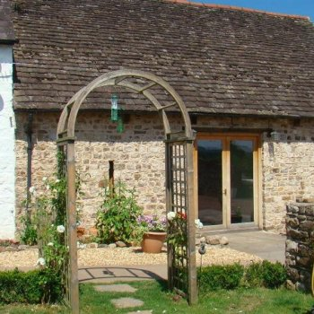 Find self-catering accommodation for Recently converted self catering holiday rental barn in Llanover, close to Abergavenny market town