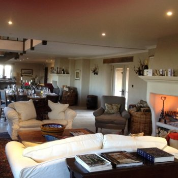 Find self-catering accommodation for Beautiful 3 ensuite bedroom home with gym and dance-floor, perfect for a private celebration!