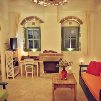 Find self-catering accommodation for Myrtia House, stone building,  Koskinou traditional