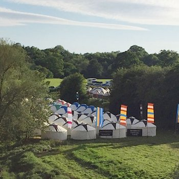 Find self-catering accommodation for Hay Festival - Spare spaces in a large luxury yurt by the river