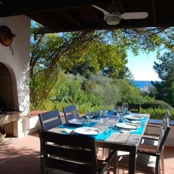 Find self-catering accommodation for 3 bedroom semi detached villa to rent in Sardinia by wonderful beach with sea views, sleeps 6