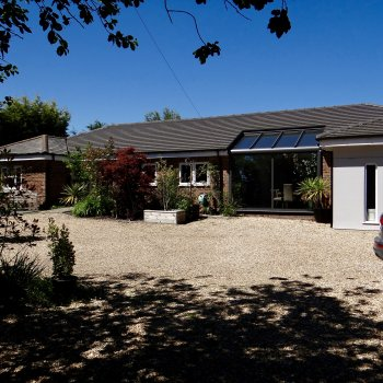 Find self-catering accommodation for Contemporary property nr  Goodwood with secured parking and roof terrace overlooking the South Downs